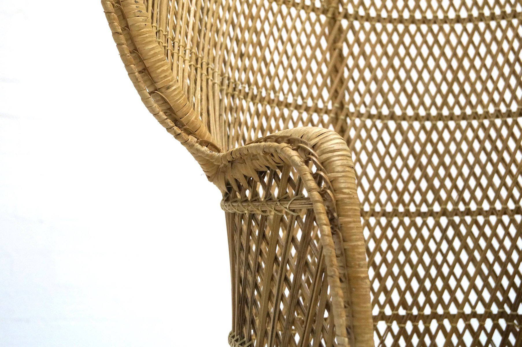 Peacock Wicker Chair 1970s for sale at Pamono