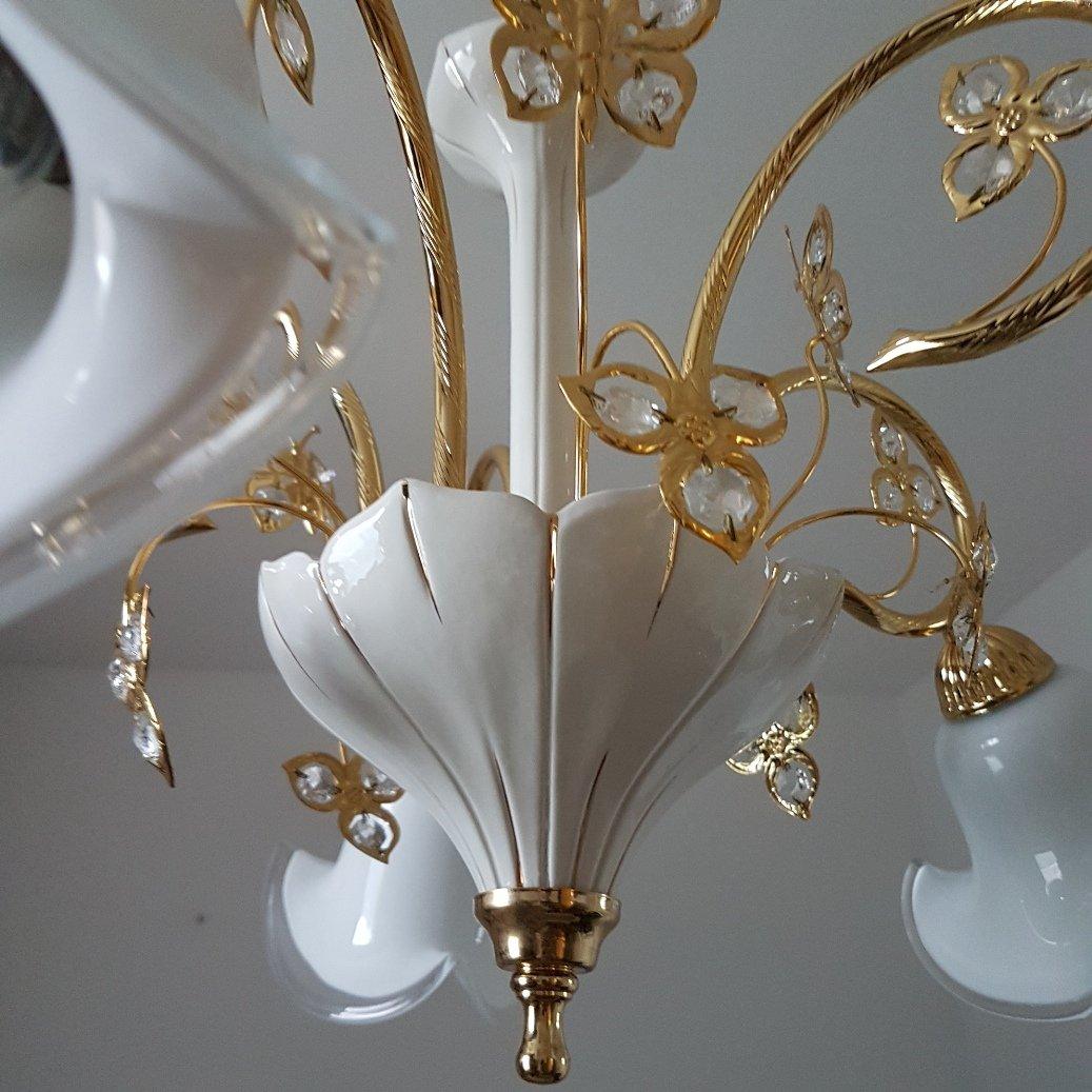 murano glas swarovski kristall kronleuchter von b c san michele 1980er bei pamono kaufen. Black Bedroom Furniture Sets. Home Design Ideas
