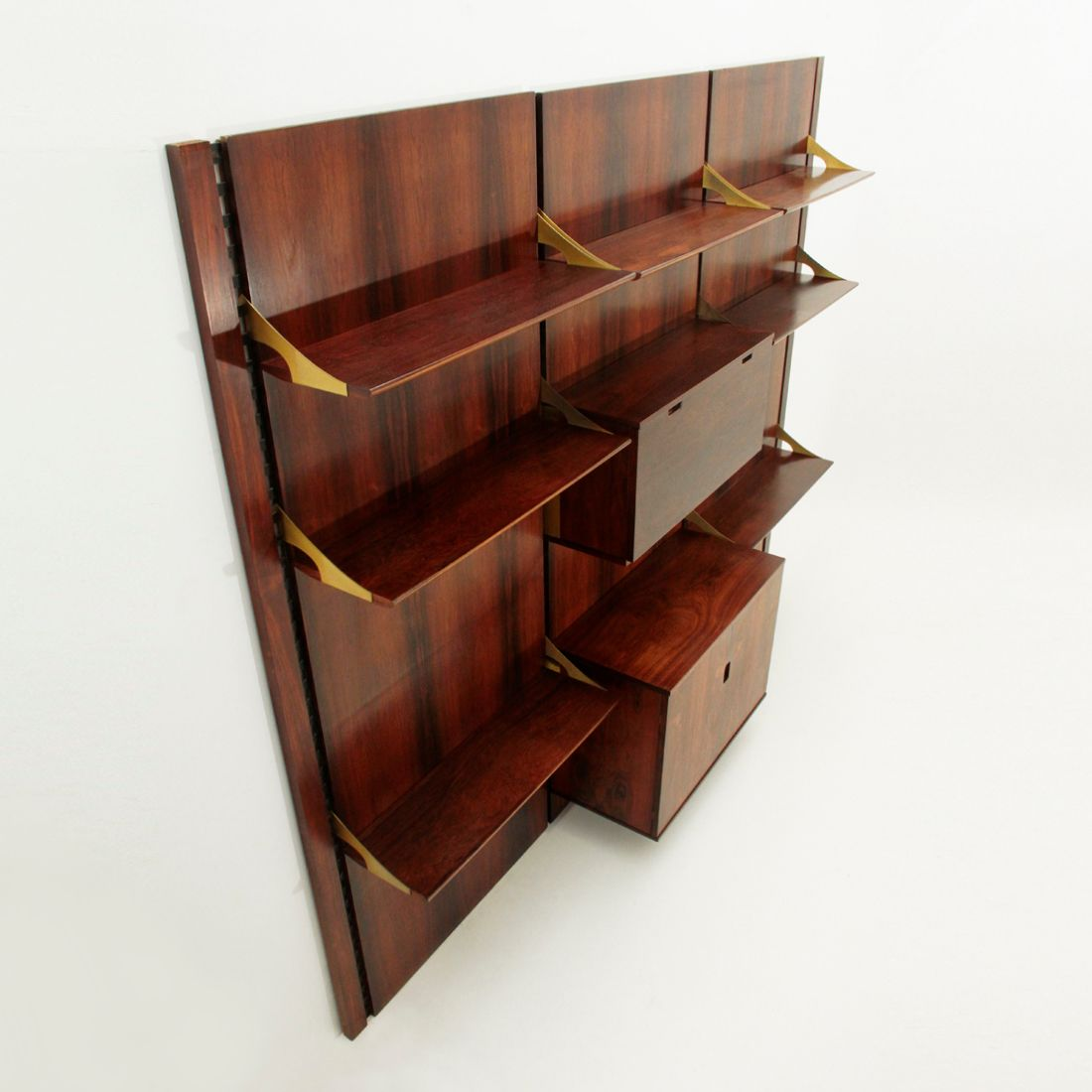 Italian rosewood wall unit bookcase from mobilia 1960s for Mobilia italia