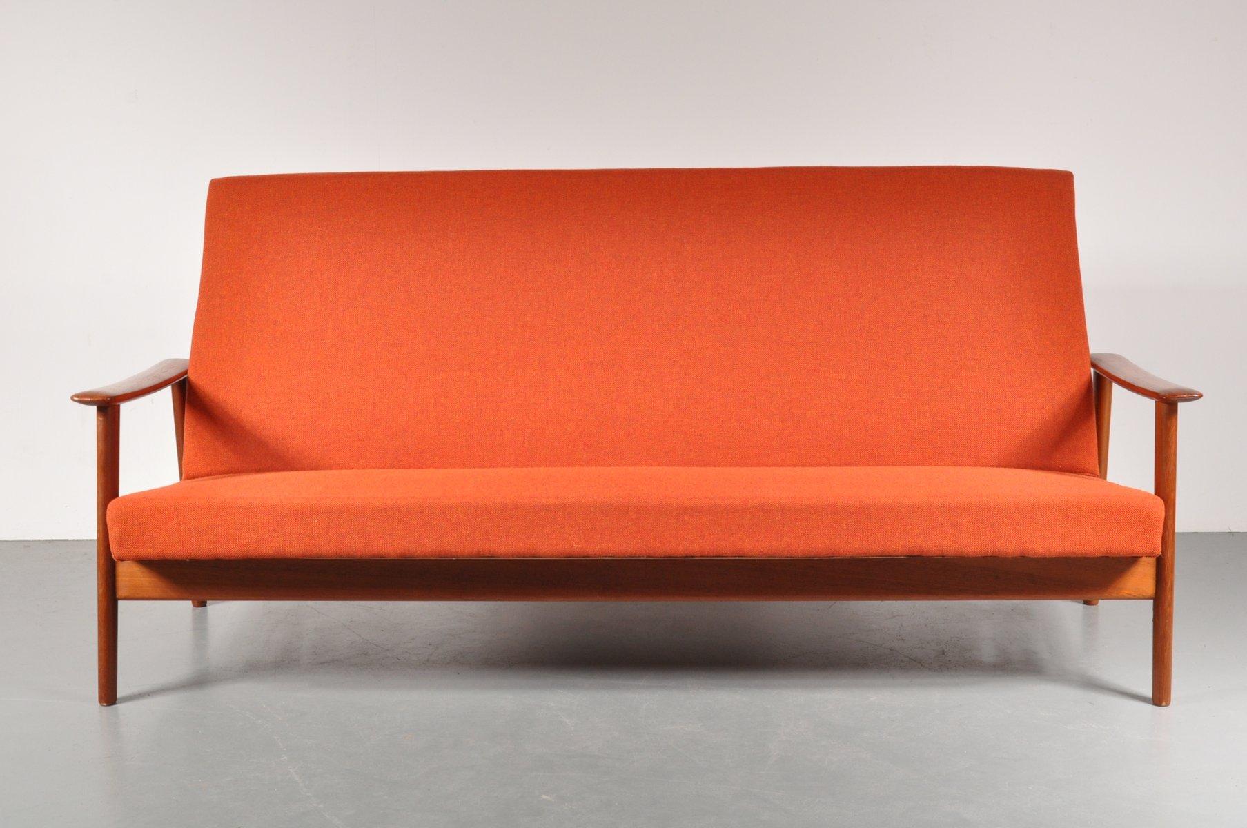 skandinavisches 3 sitzer sofa 1950er bei pamono kaufen. Black Bedroom Furniture Sets. Home Design Ideas