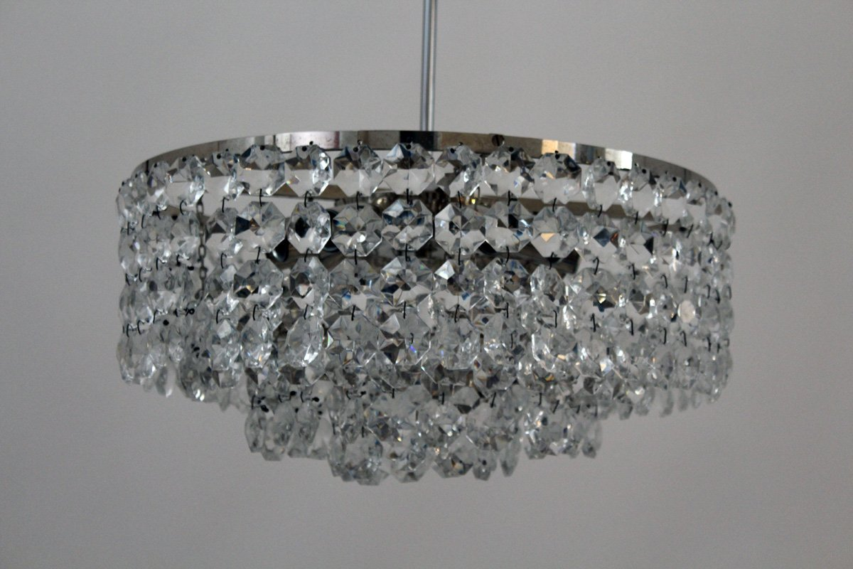 vintage crystal chandelier from bakalowits for sale at pamono. Black Bedroom Furniture Sets. Home Design Ideas