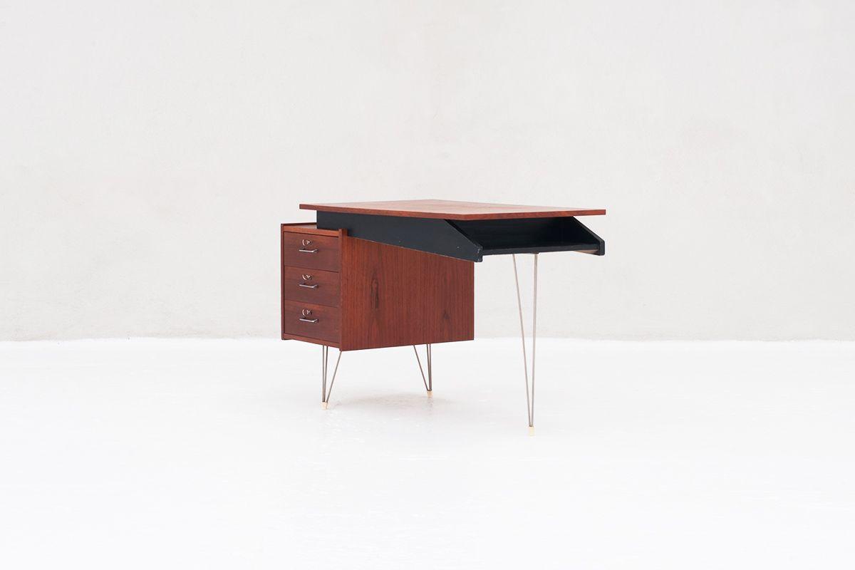 schreibtisch von cees braakman f r pastoe 1950er bei pamono kaufen. Black Bedroom Furniture Sets. Home Design Ideas
