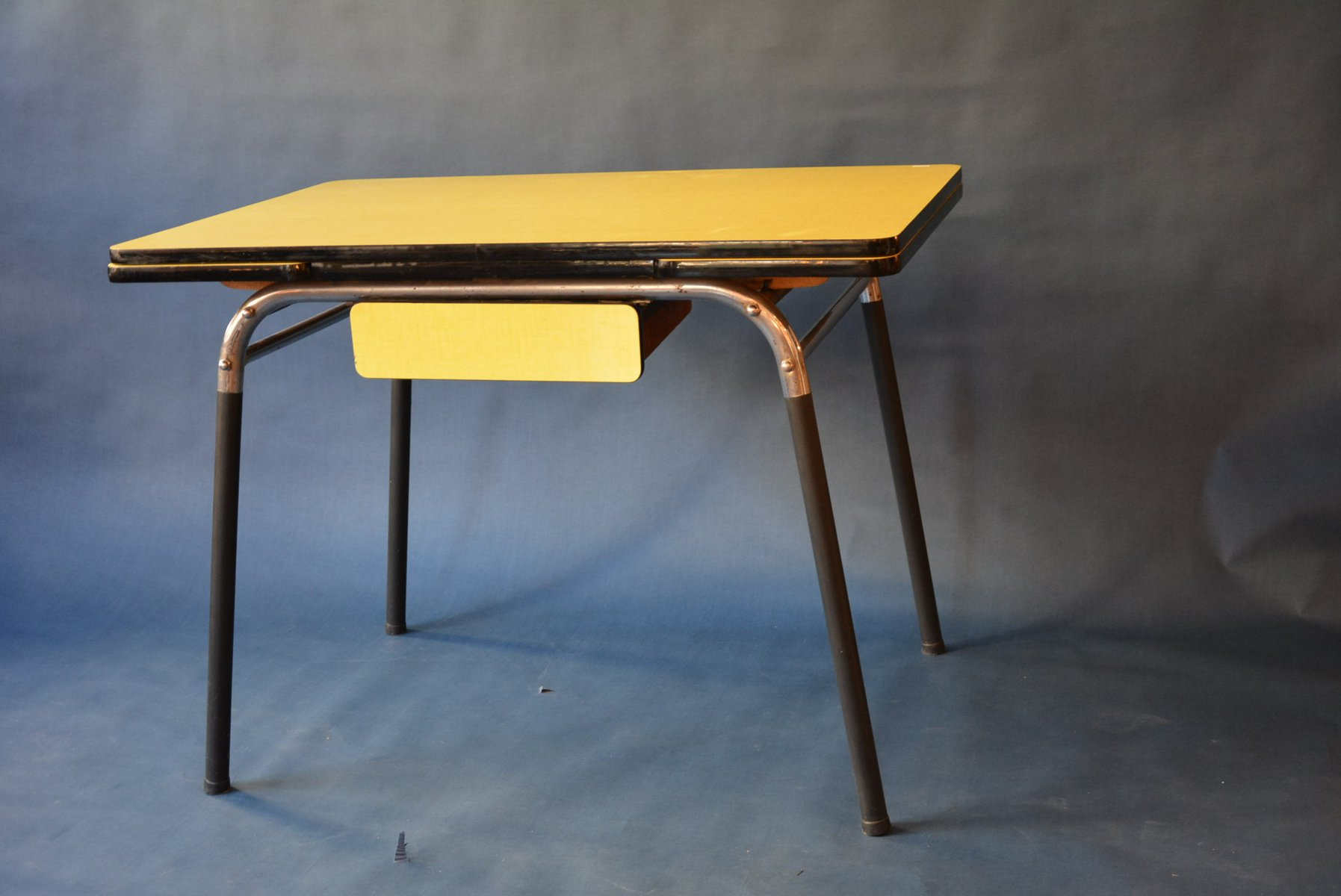 Yellow Formica Dining Table, 1950s