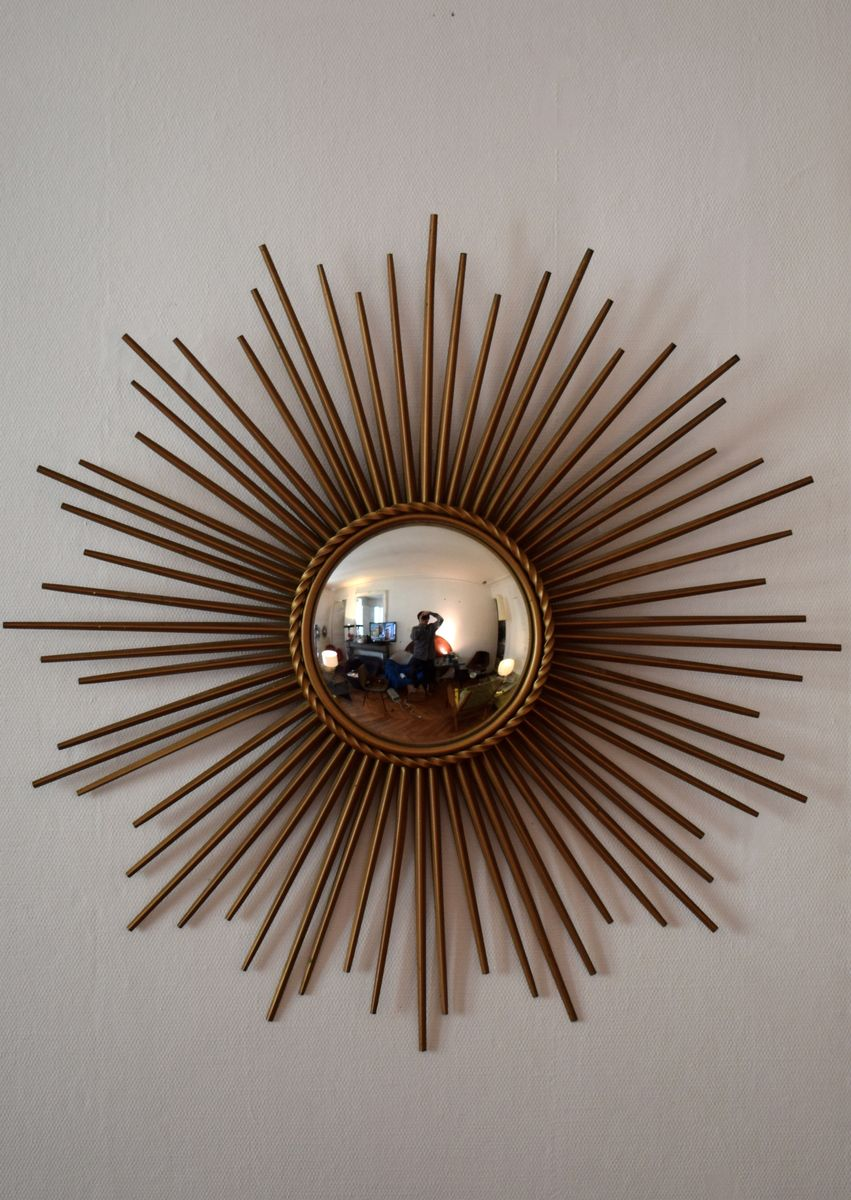Mid century convex mirror from chaty vallauris for sale at - Point p vallauris ...