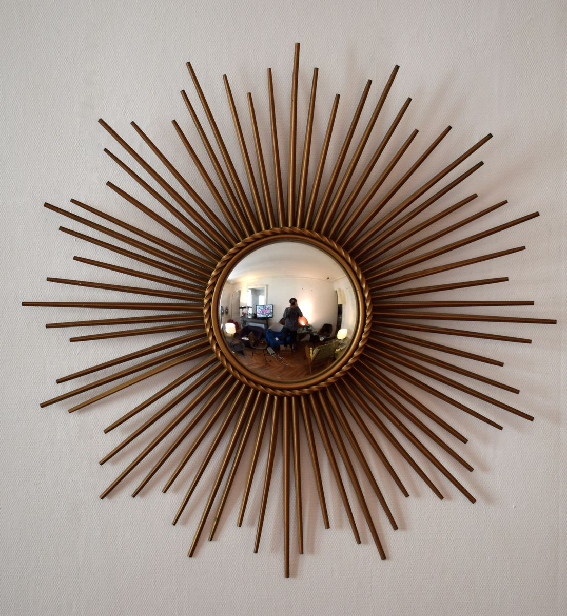 Mid century convex mirror from chaty vallauris for sale at for Chaty vallauris miroir