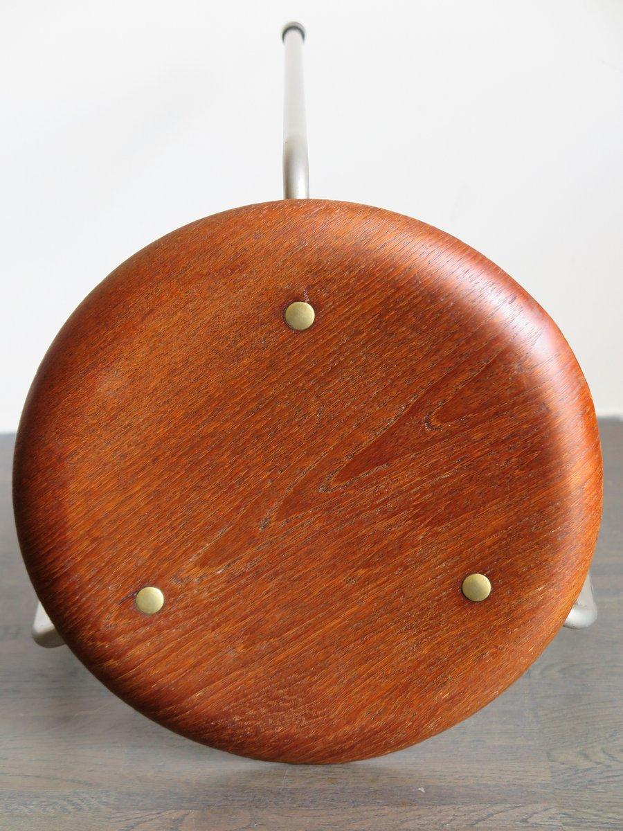 vintage teak hocker von arne jacobsen f r fritz hansen 3er set bei pamono kaufen. Black Bedroom Furniture Sets. Home Design Ideas