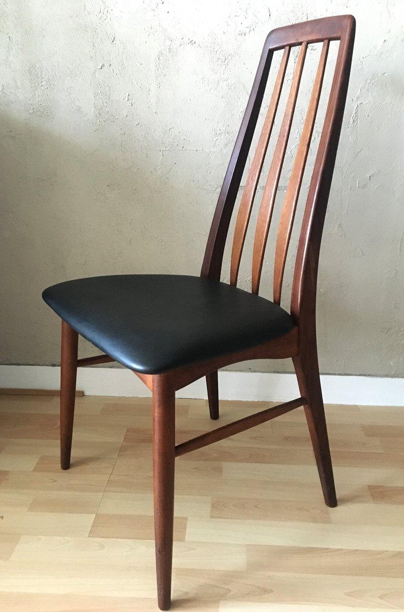 mid century eva teak stuhl von niels koefoed f r koefoeds hornslet bei pamono kaufen. Black Bedroom Furniture Sets. Home Design Ideas