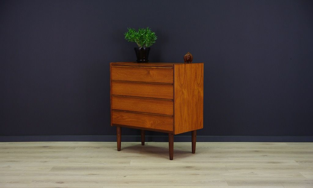 mid century modern danish teak commode bei pamono kaufen. Black Bedroom Furniture Sets. Home Design Ideas