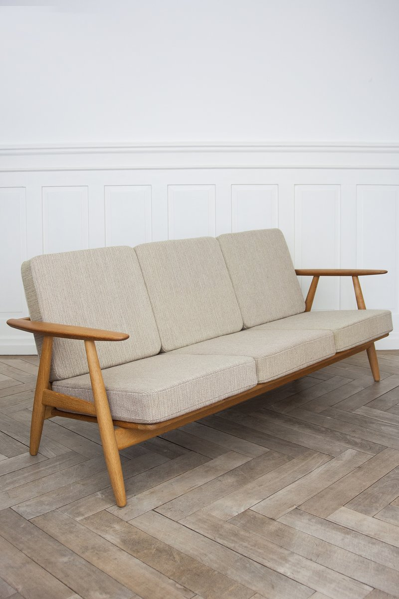 GE 240 Cigar Sofa By Hans J. Wegner For Getama, 1950s