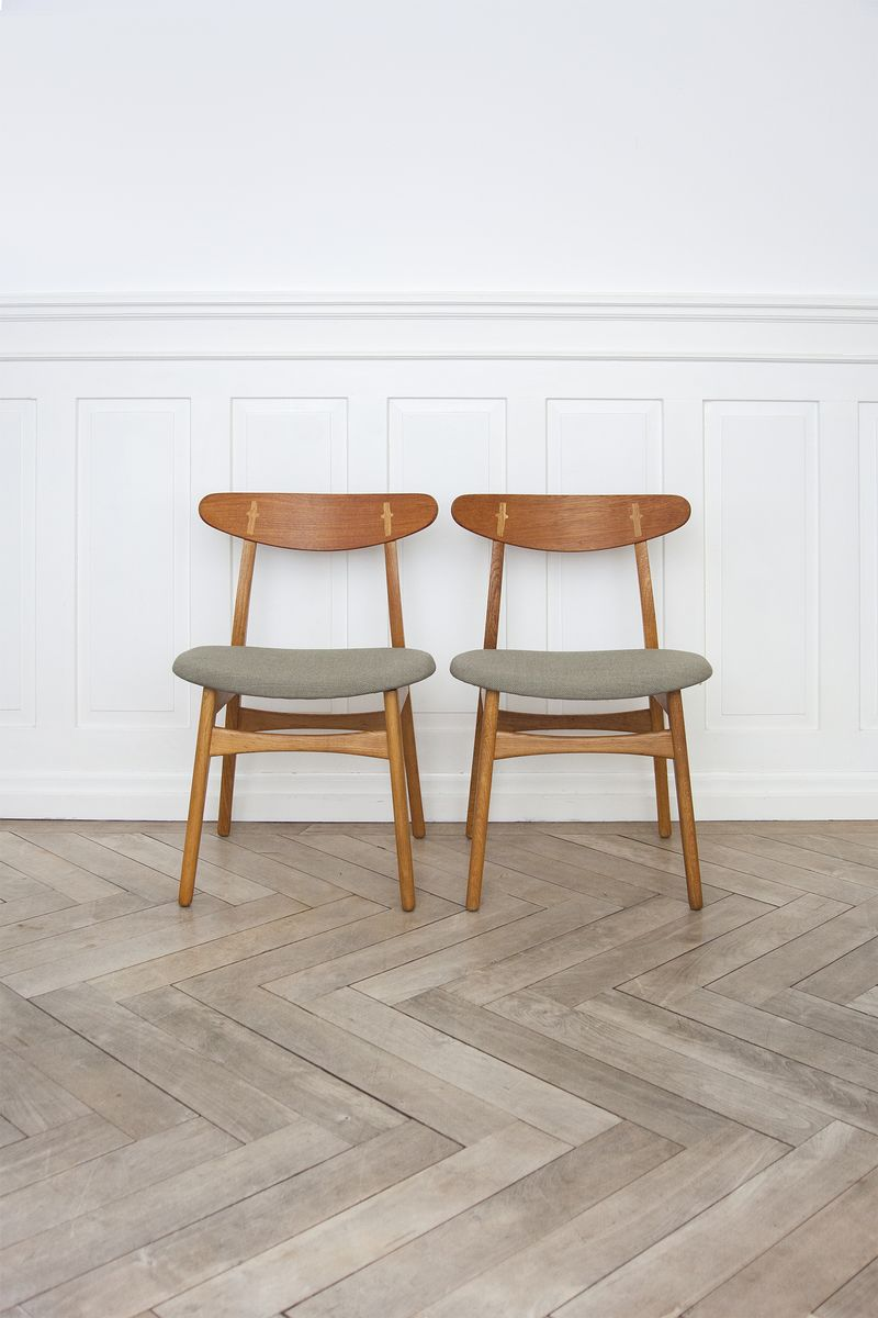 ch30 chairs by hans j wegner for carl hansen son 1950s for sale at pamono. Black Bedroom Furniture Sets. Home Design Ideas