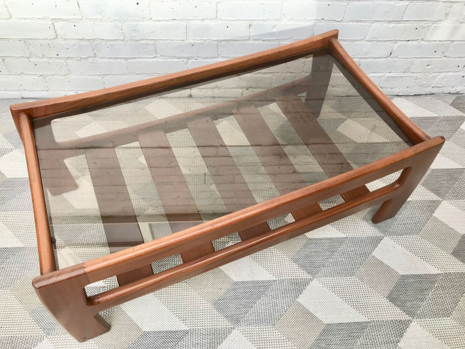 Vintage Glass Coffee Table with Shelf from G Plan for sale at Pamono