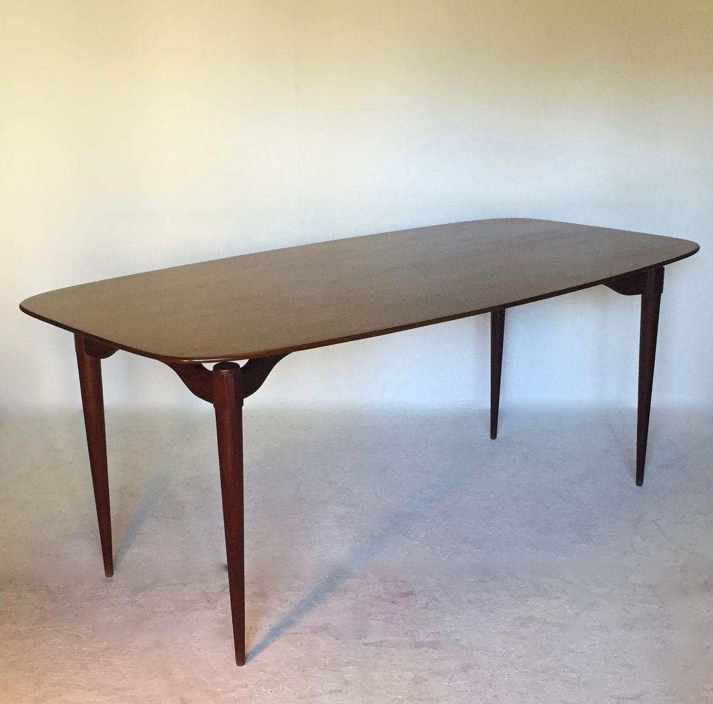 gro er italienischer esstisch 1950er bei pamono kaufen. Black Bedroom Furniture Sets. Home Design Ideas