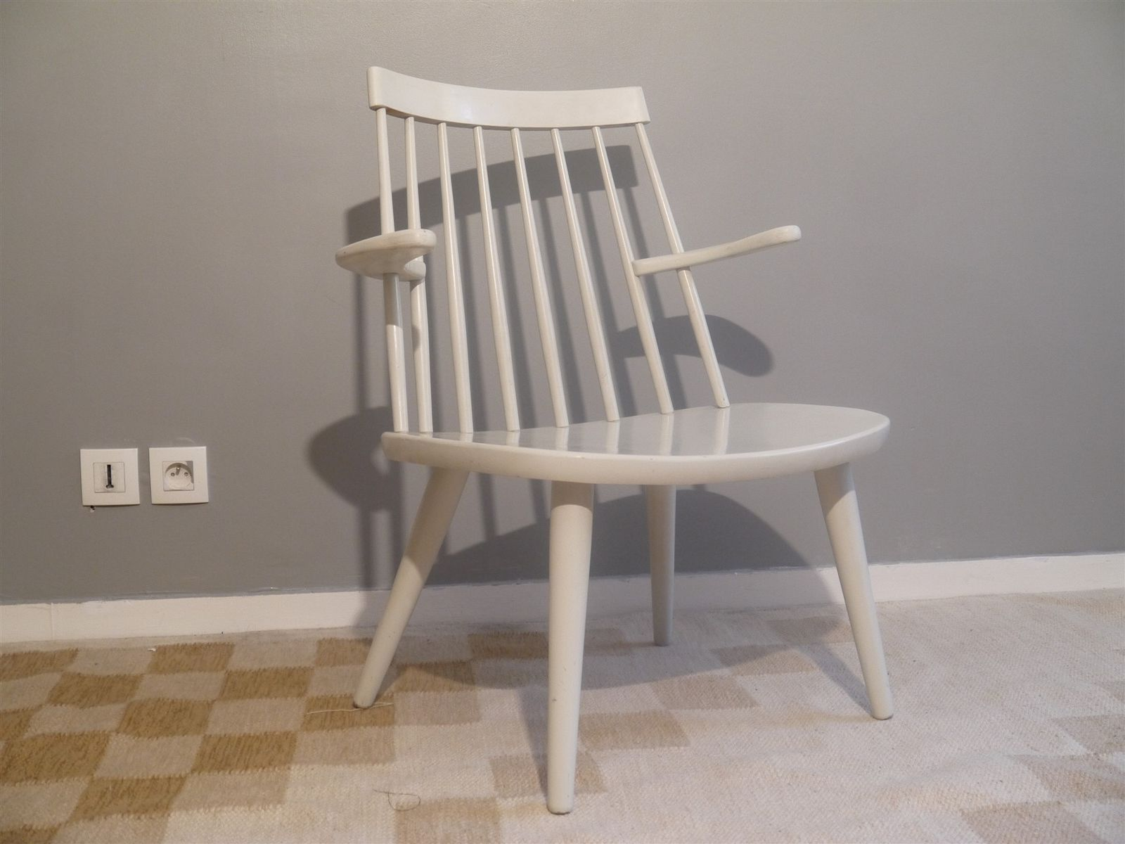 Vintage Sibbo Armchair by Yngve Ekstrom for Stolab, 1950s for sale at Pamono