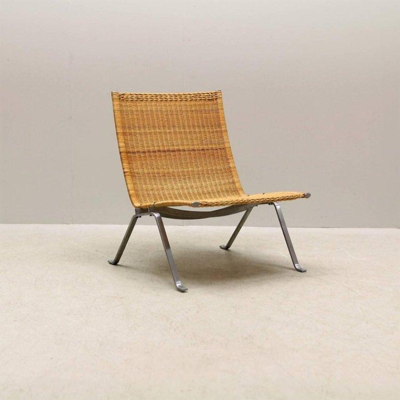 PK 22 Cane Chair By Poul Kjaerholm For E. Kold Christensen, 1950s