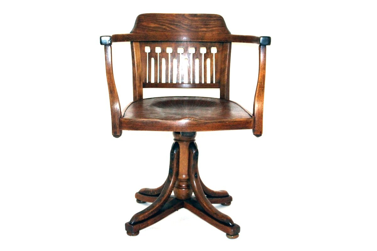 Antique Swivel Chair by Otto Wagner for J&J Kohn, 1905 - Antique Swivel Chair By Otto Wagner For J&J Kohn, 1905 For Sale At