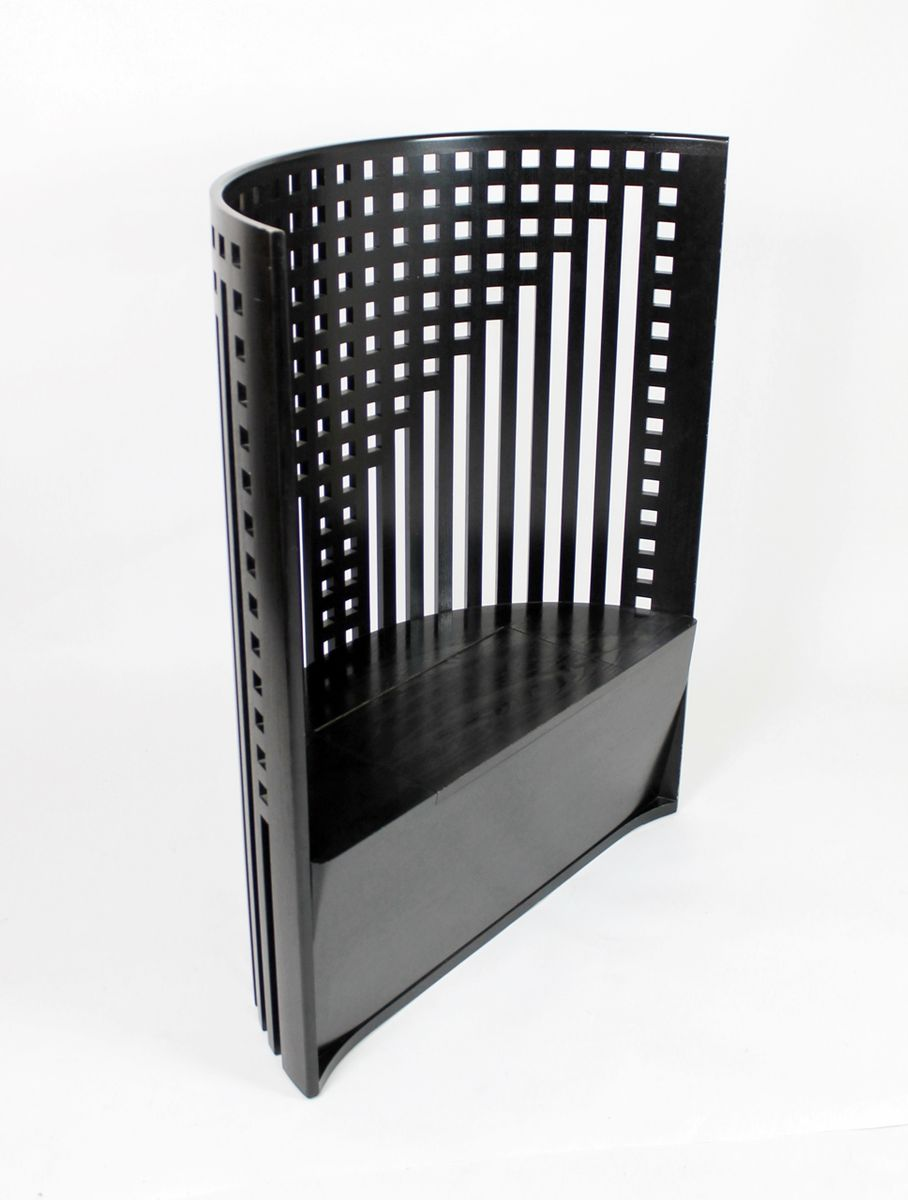 willow chair by charles rennie mackintosh for cassina 1980s for sale at pamono. Black Bedroom Furniture Sets. Home Design Ideas