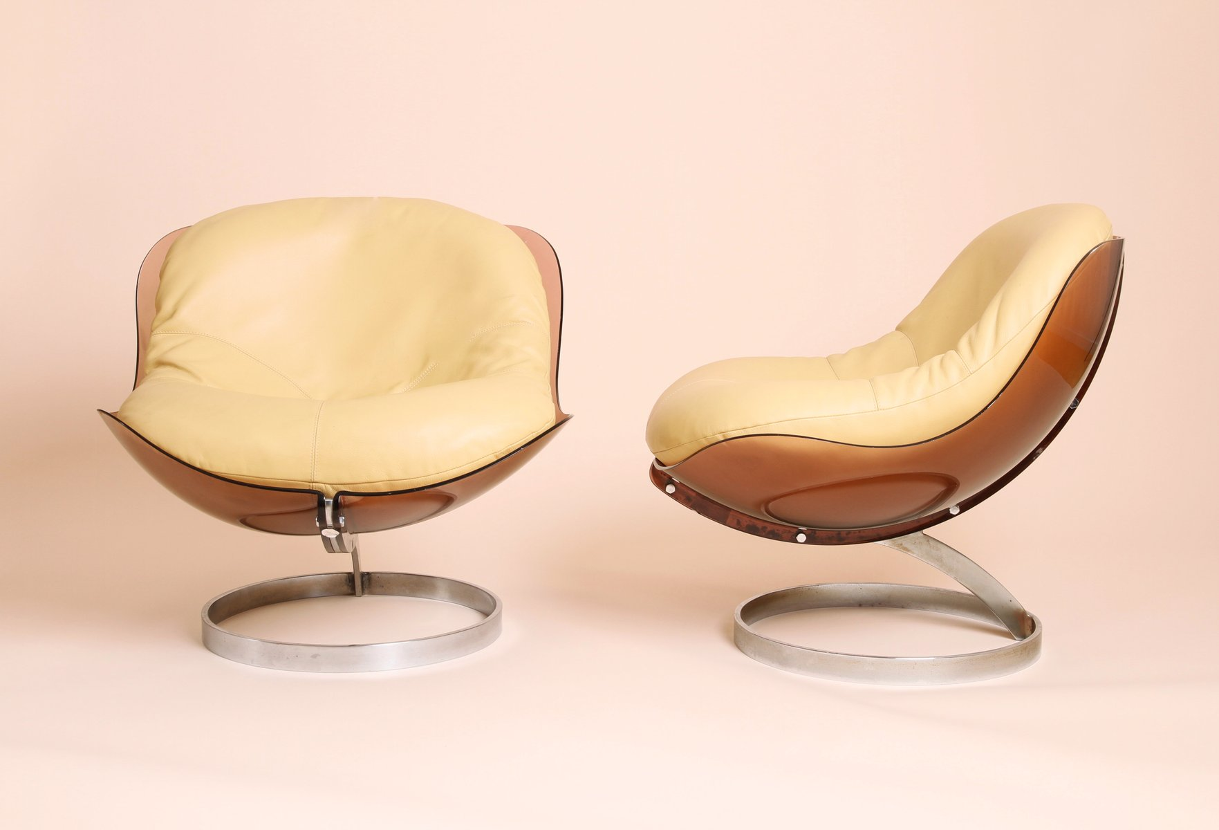 Sphere Lounge Chair by Boris Tabacoff for MMM 1970s Set of 2 for