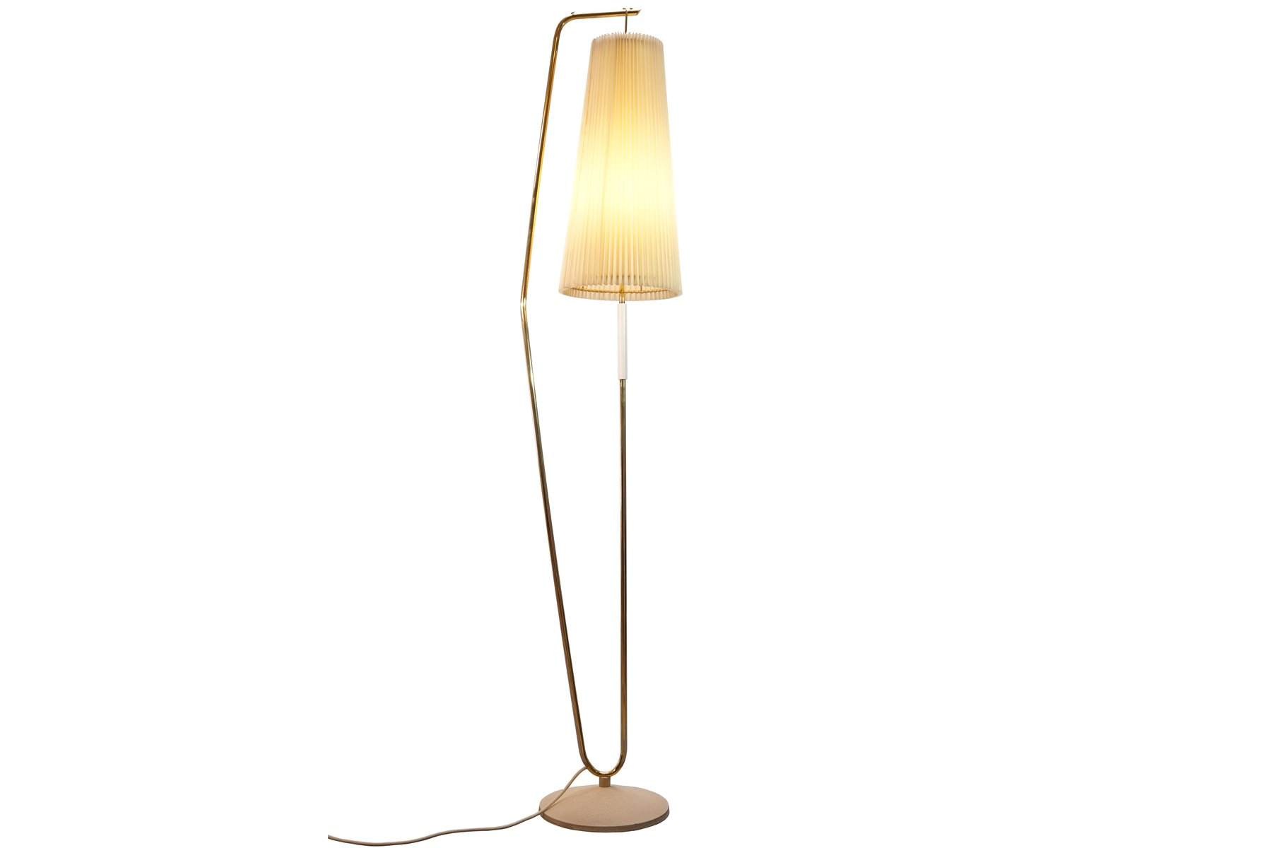 Floor lamp with off white shade 1950s for sale at pamono for 1950s floor lamps