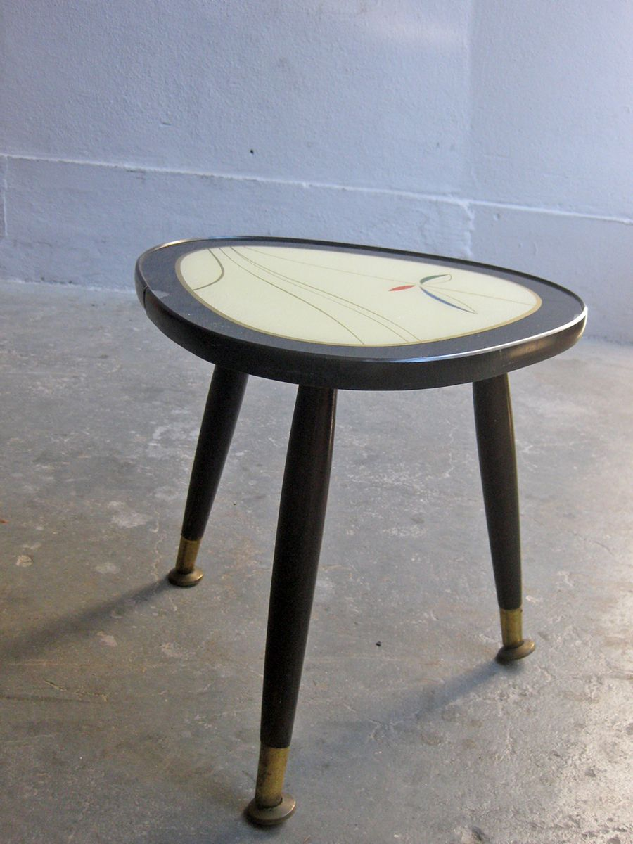 Lacquered Wooden Side Table 1950s for sale at Pamono