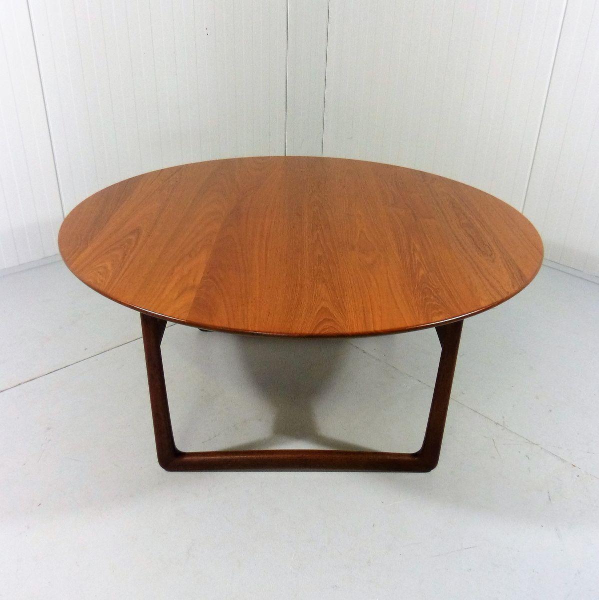 Round Teak Coffee Table By Peter Hvidt Orla M Lgaard Nielsen For France S N 1960s For Sale