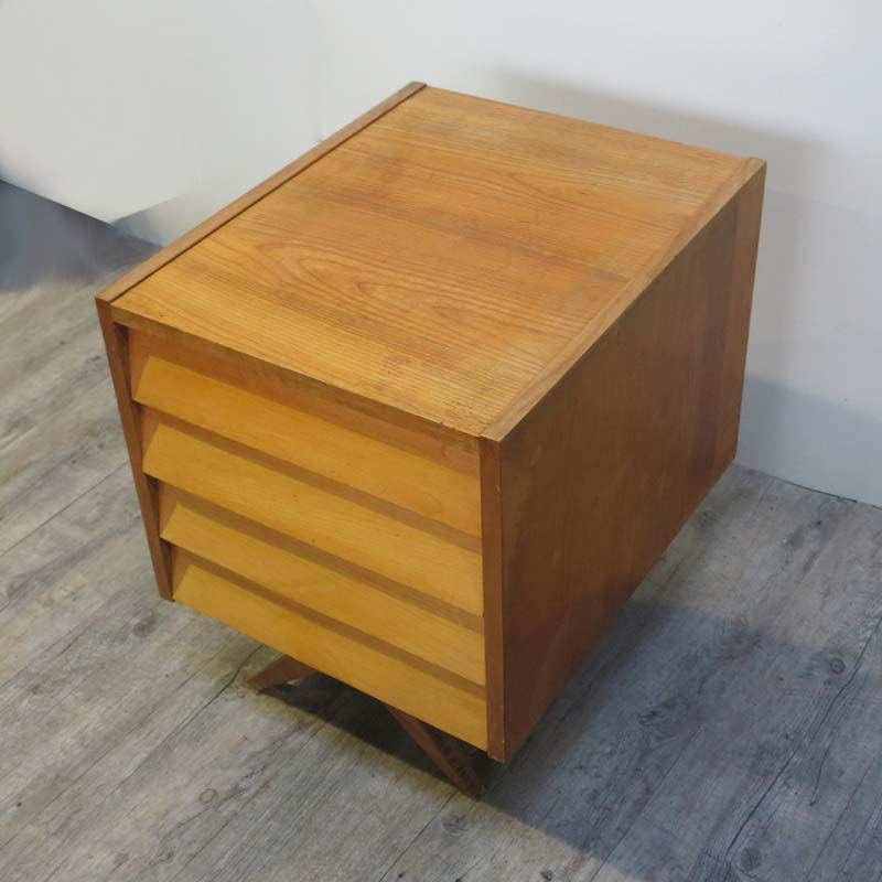 side table with drawers from wk m bel 1950s bei pamono kaufen. Black Bedroom Furniture Sets. Home Design Ideas