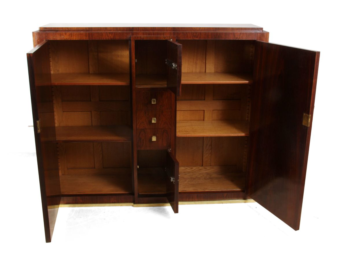 Oak rosewood veneer hall cabinet 1930s for sale at pamono for 1930s kitchen cabinets for sale