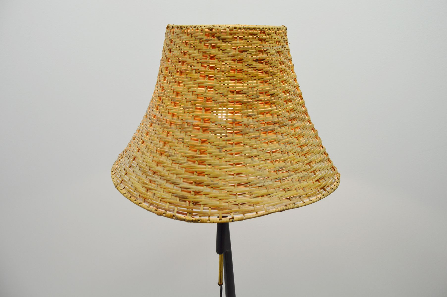 Teak Floor Lamp with Integrated Side Table, 1960s for sale at Pamono
