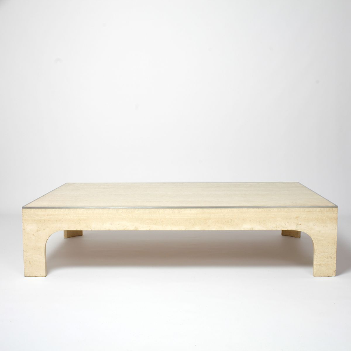 Vintage travertine coffee table by willy rizzo for sale at pamono geotapseo Image collections