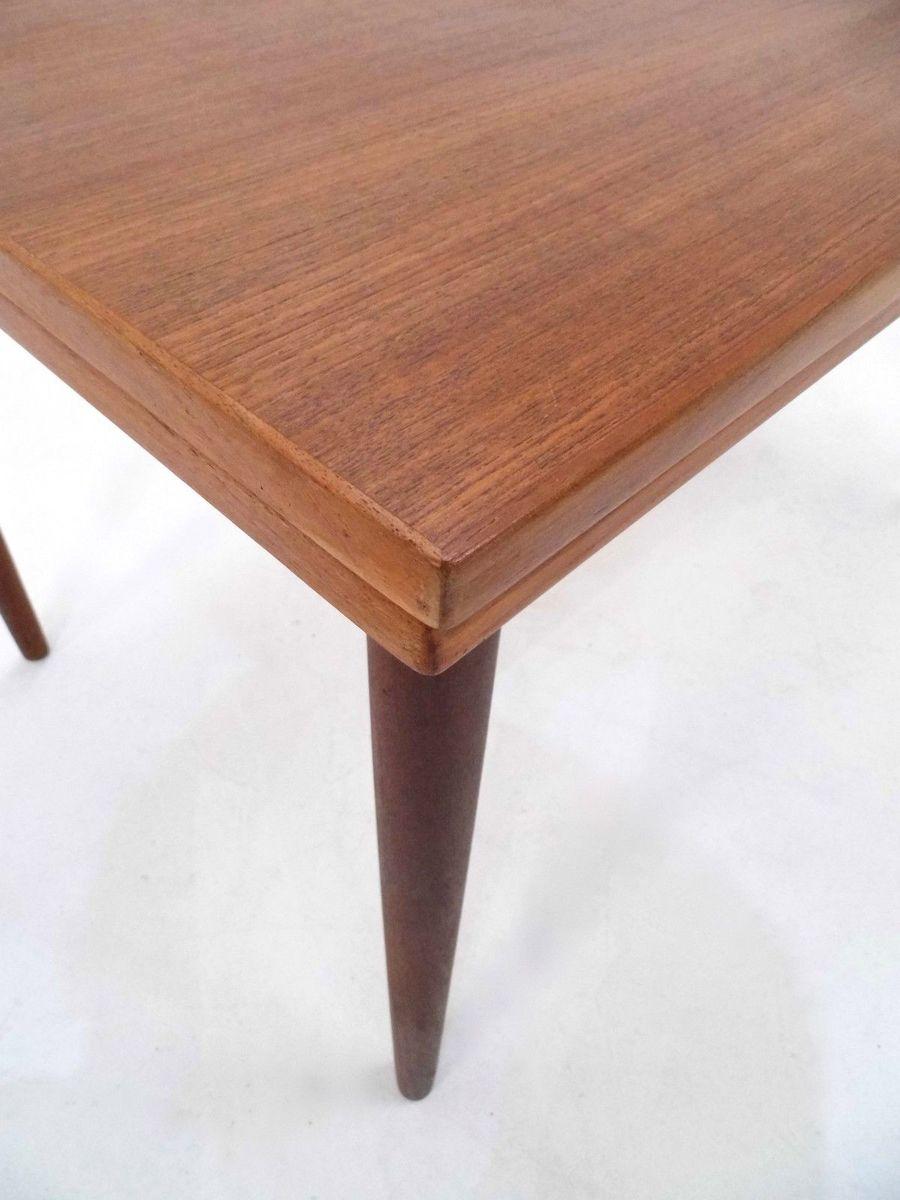 ausziehbarer d nischer esstisch aus teak 1960er bei pamono kaufen. Black Bedroom Furniture Sets. Home Design Ideas