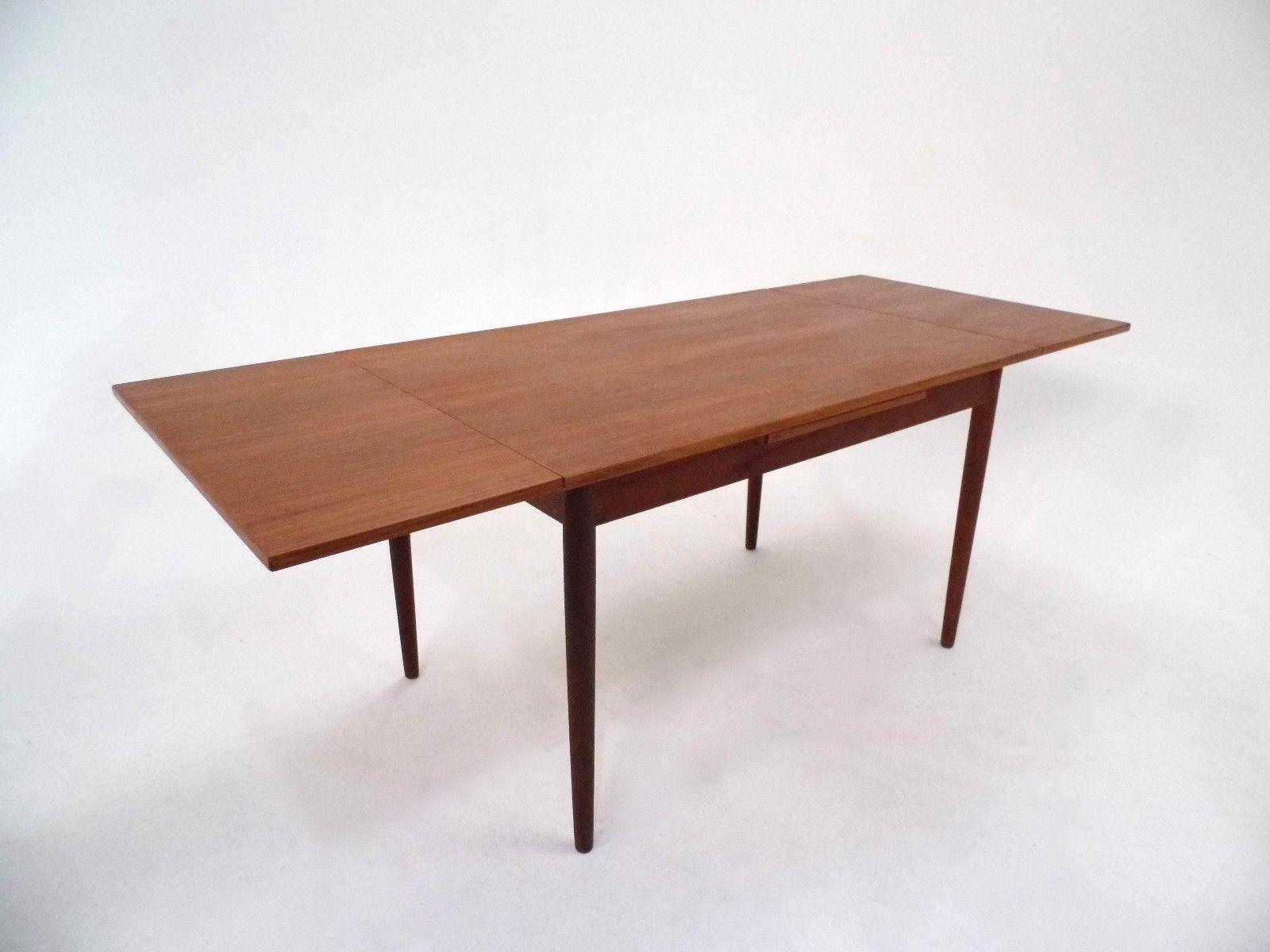 ausziehbarer d nischer esstisch aus teak 1960er bei. Black Bedroom Furniture Sets. Home Design Ideas