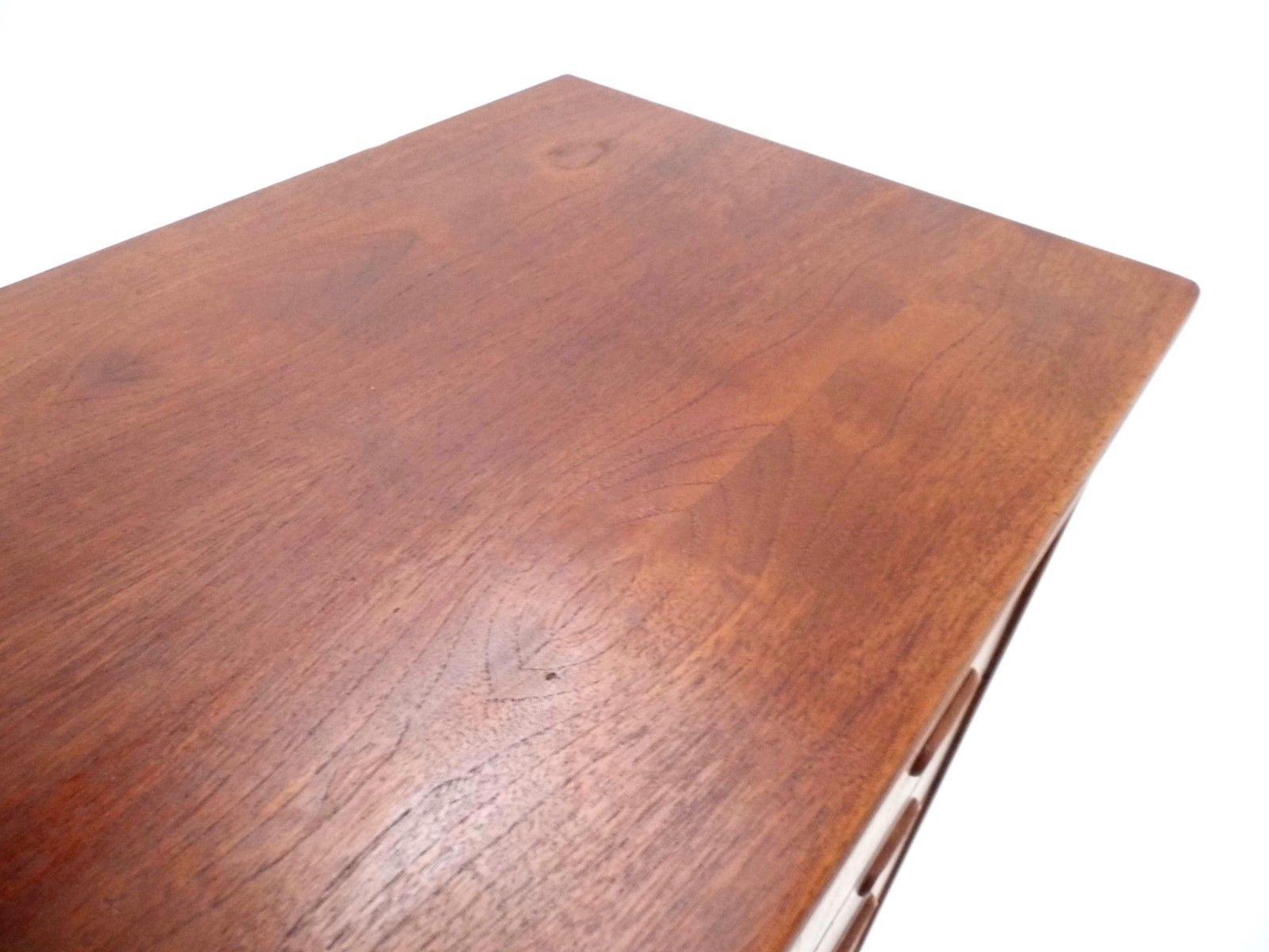 Danish Teak Tallboy with Recessed Handles 1960s for sale at Pamono