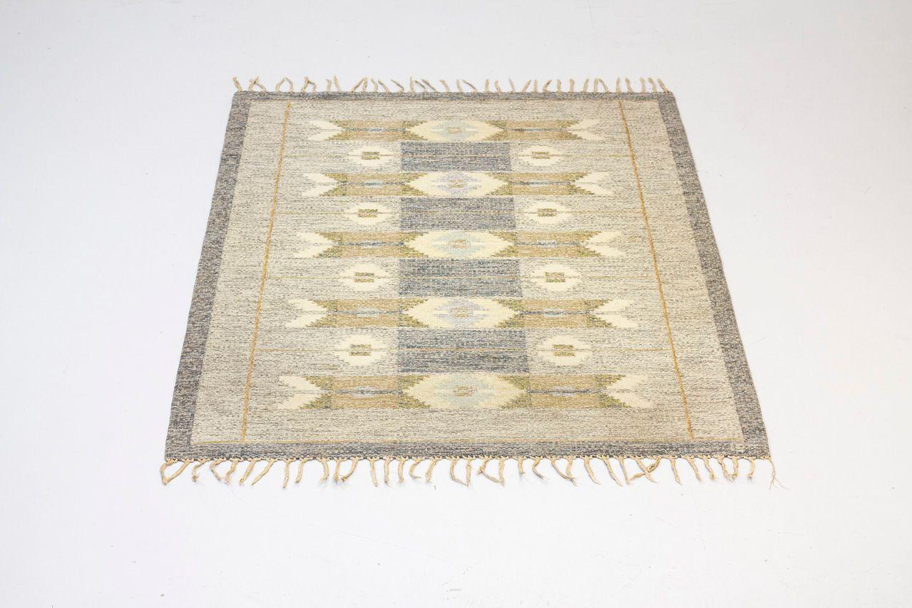 schwedischer vintage r lakan flachgewebe teppich von ingegerd silow bei pamono kaufen. Black Bedroom Furniture Sets. Home Design Ideas