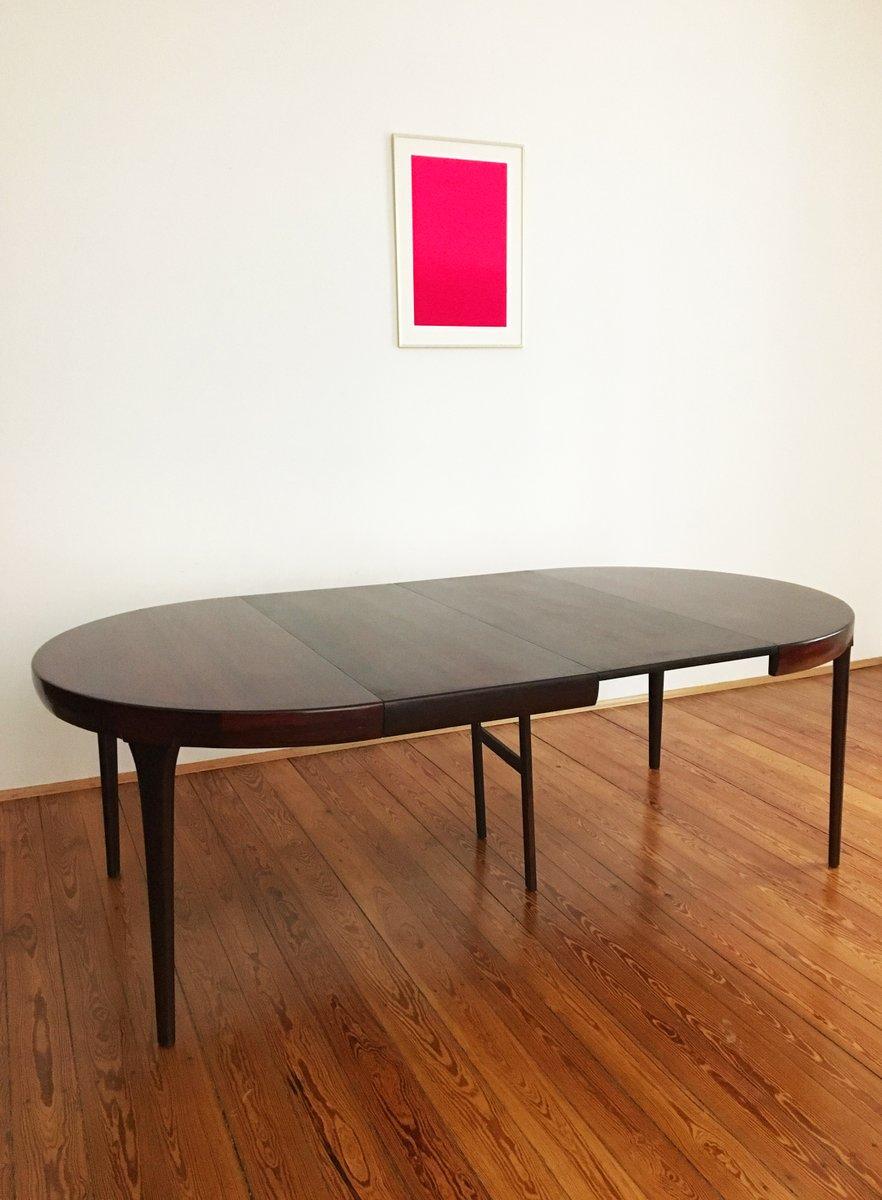 Round Danish Mid Century Palisander Dining Table By Ib