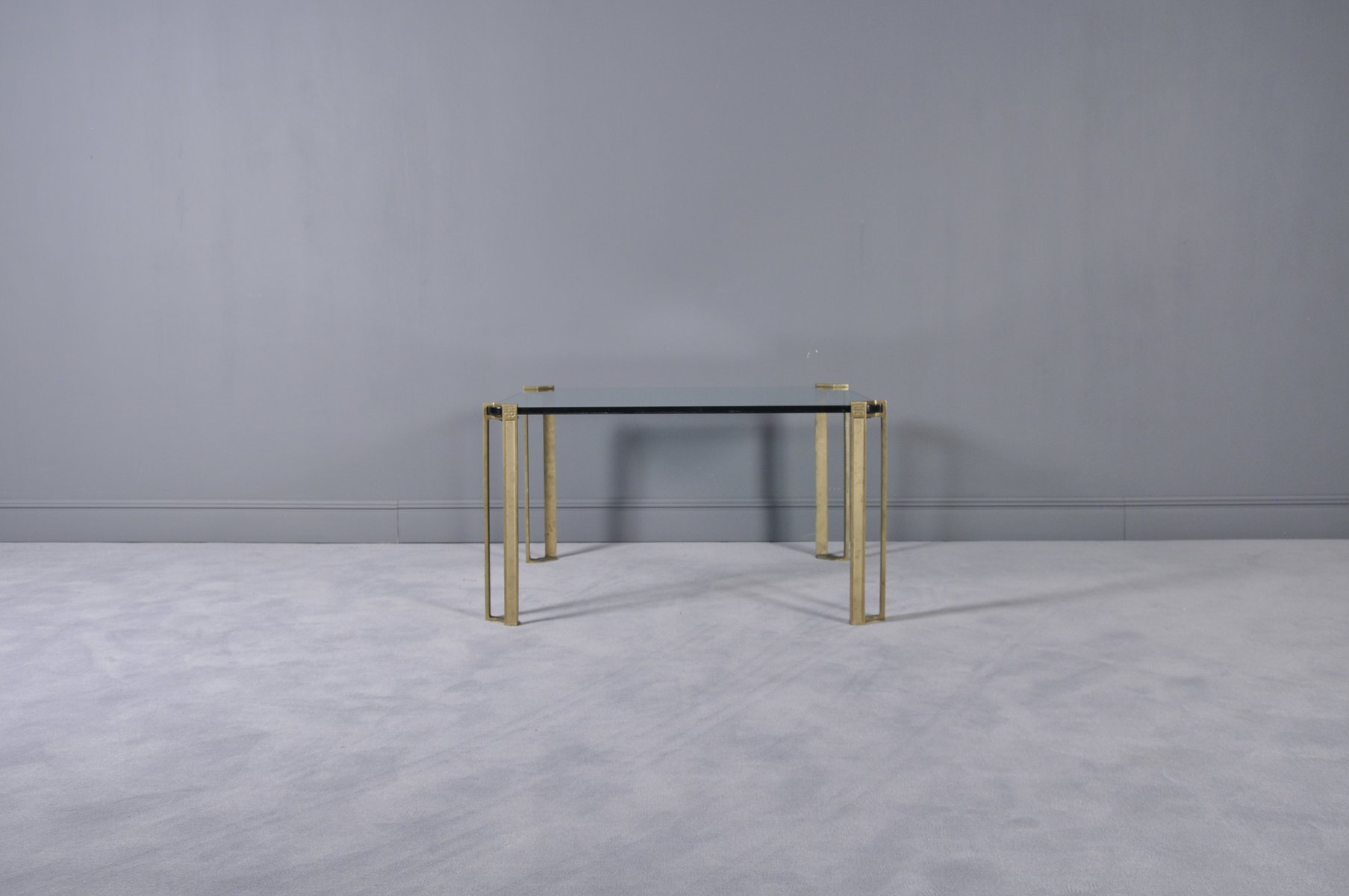 Bronze and Glass Coffee Table by Peter Ghyczy 1970s for sale at