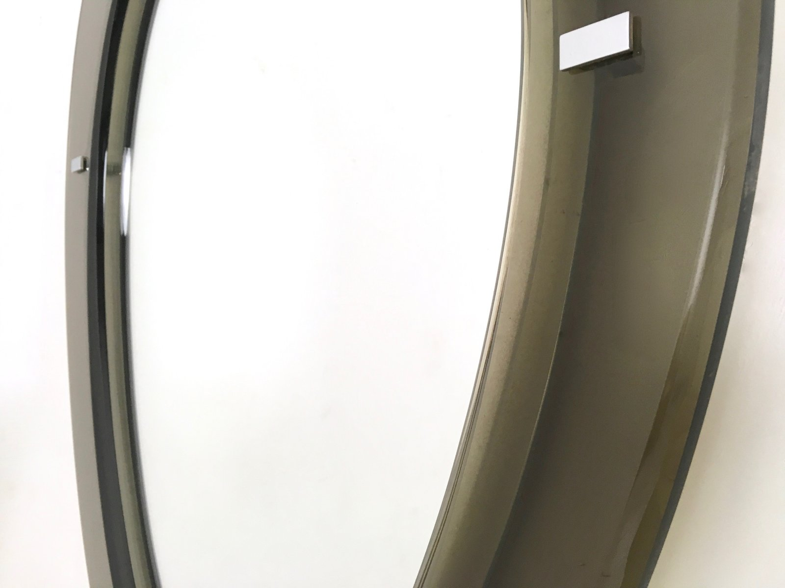 Mirror with beveled glass frame from fontana arte 1950s for Beveled glass mirror