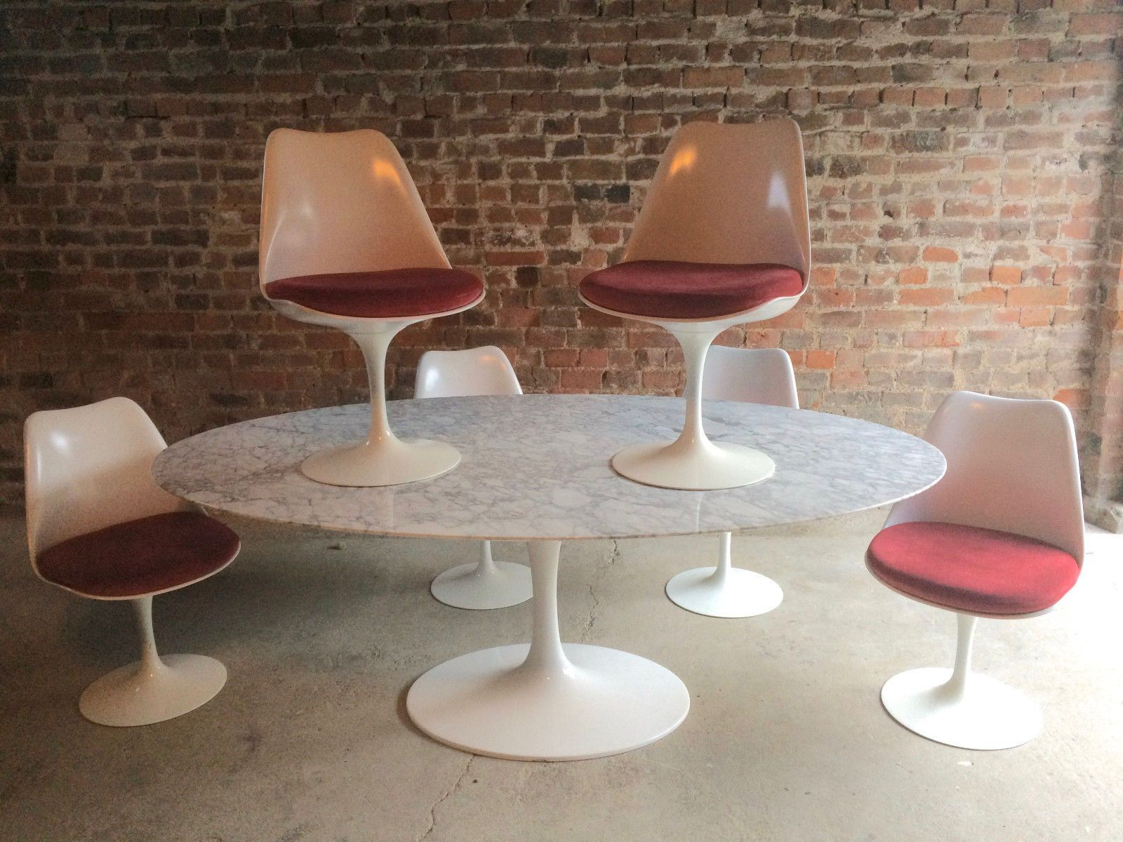 Vintage Marble Tulip Dining Set by Eero Saarinen for Knoll for