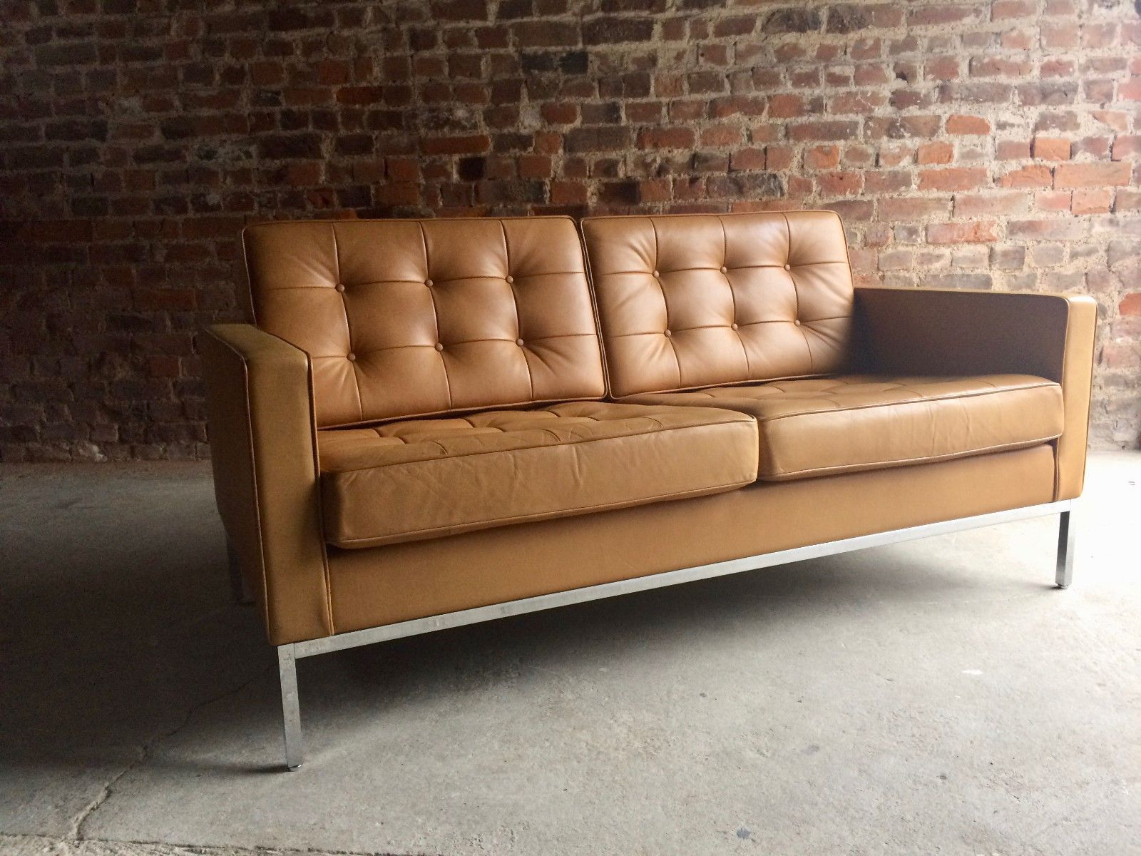 Préférence Vintage 2-Seater Leather Sofa by Florence Knoll for Knoll for sale  BV25