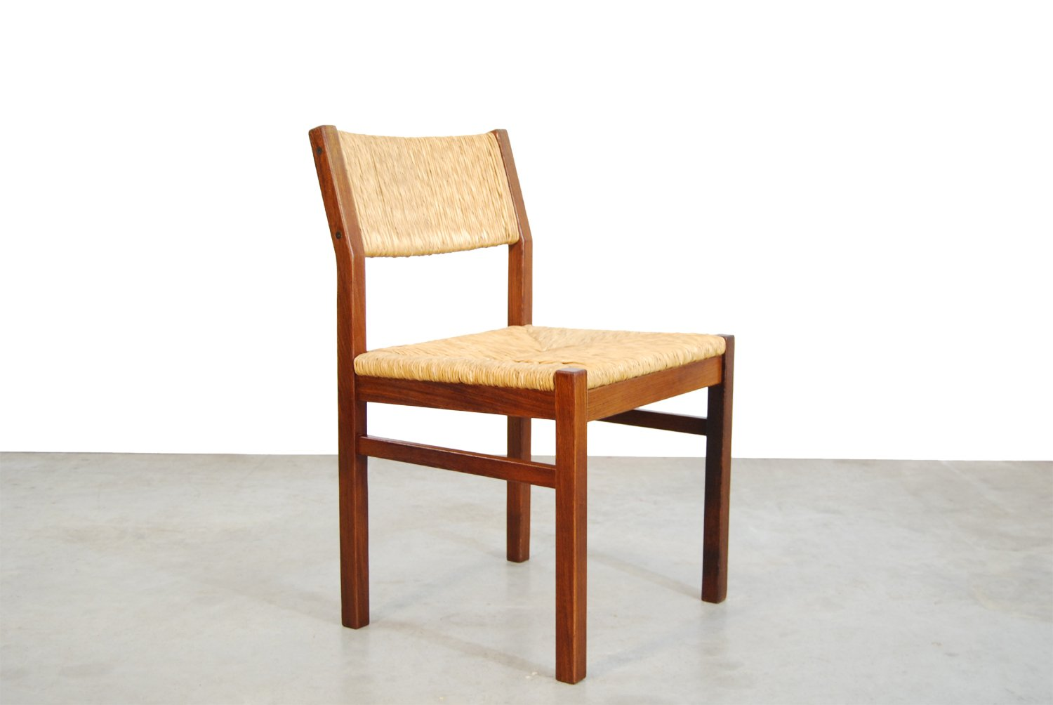 Mid century dutch ash and reed dining chairs from pastoe for Dutch design chair uk