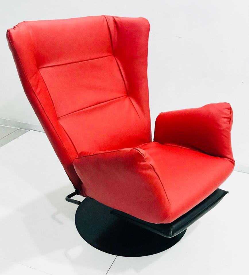Poltrona reclinabile in pelle anni 39 70 in vendita su pamono for Poltrona reclinabile