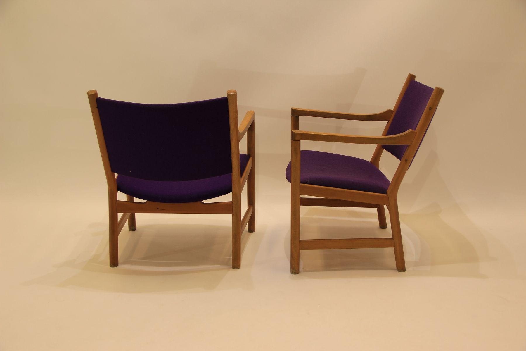 vintage ch52 armchairs by hans j wegner for carl hansen. Black Bedroom Furniture Sets. Home Design Ideas