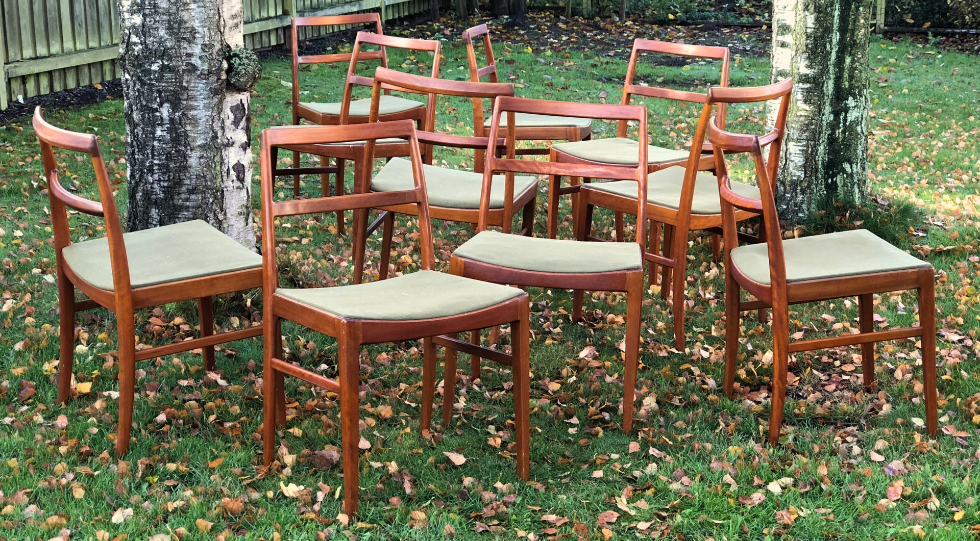 mid century 430 teak dining chairs by arne vodder for sibast set
