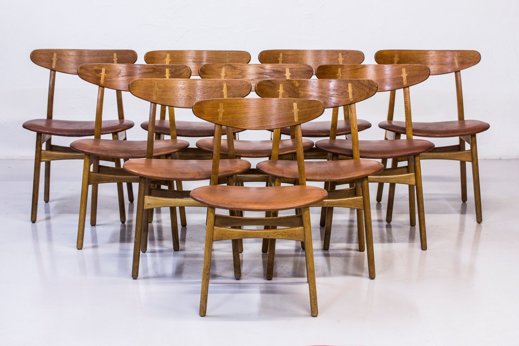 CH 30 Dining Chairs By Hans J. Wegner For Carl Hansen U0026 Søn, 1950s, Set Of  10