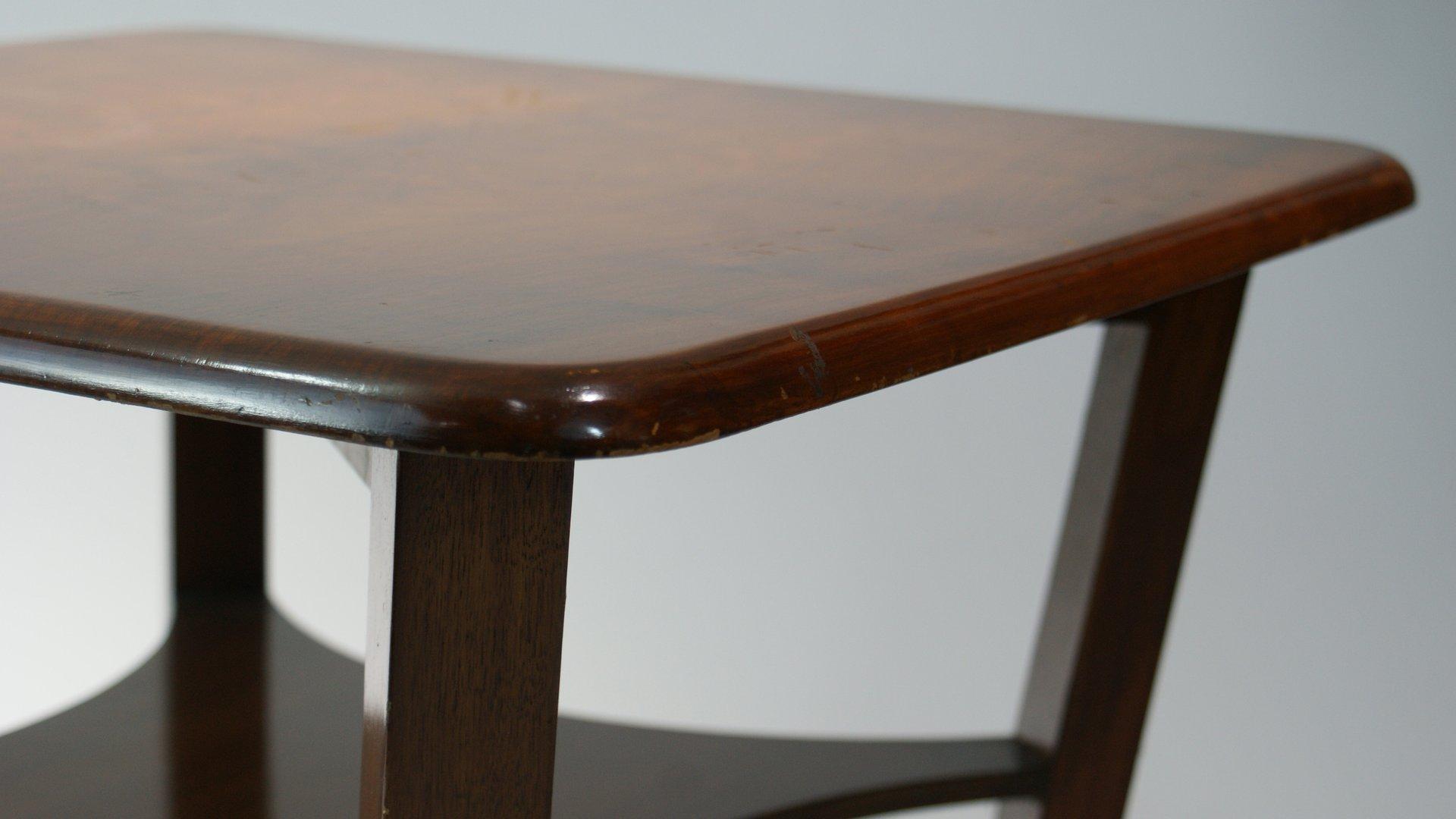 franz sischer art deco beistelltisch mit zwei ebenen von. Black Bedroom Furniture Sets. Home Design Ideas