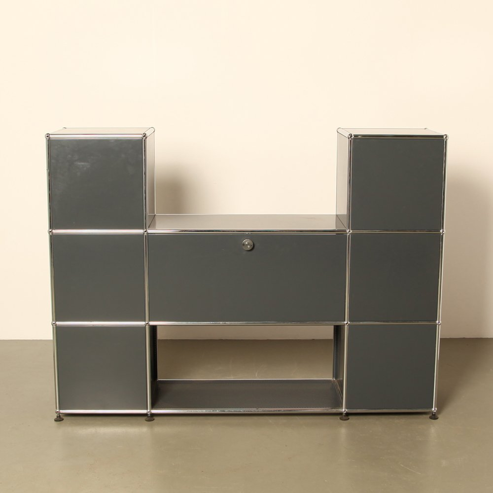 regalsystem von fritz haller paul sch rer f r usm haller. Black Bedroom Furniture Sets. Home Design Ideas