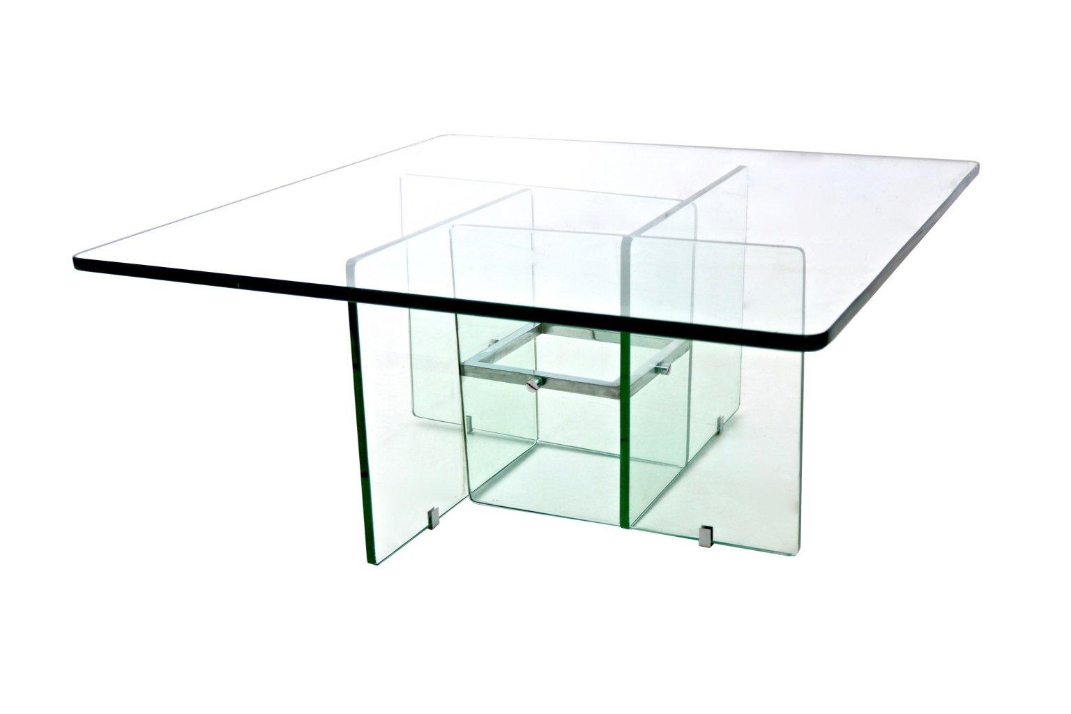 Aquamarine Square Glass Coffee Table, 1970s 7. $1,654.00. Price Per Piece