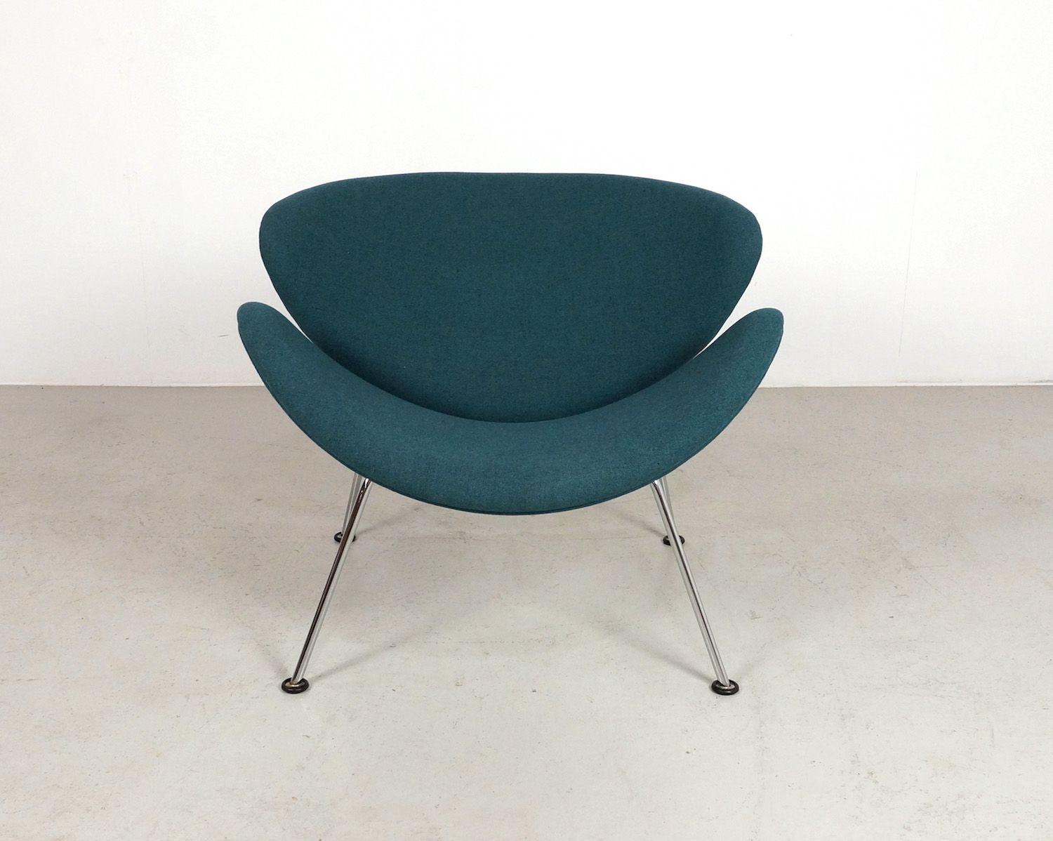 Vintage teal orange slice chair by pierre paulin for for Teal chairs for sale