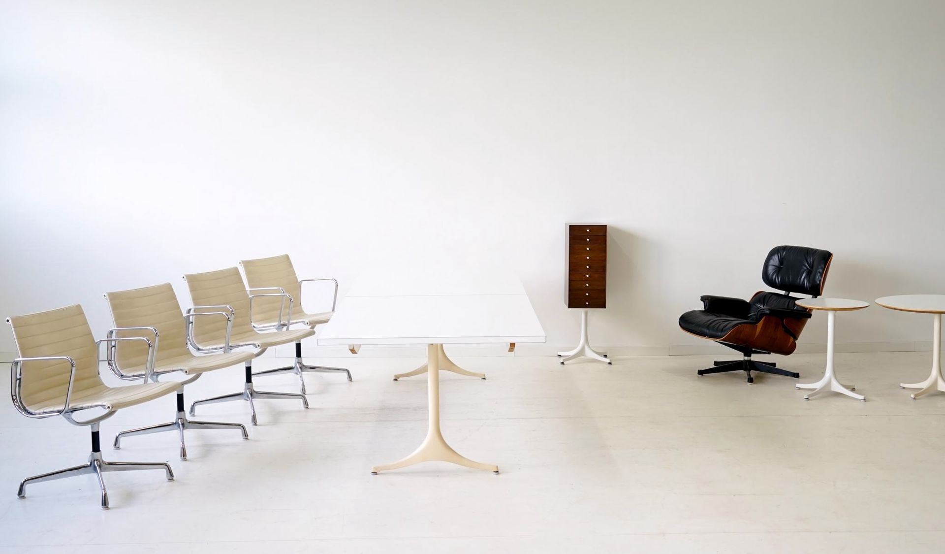 EA 107 Chairs by Charles & Ray Eames for Herman Miller 1950s Set