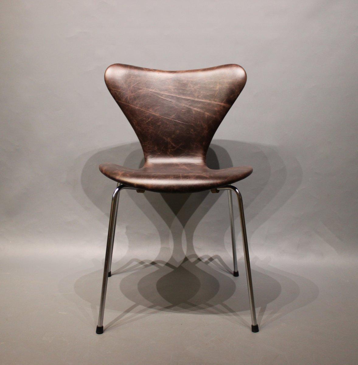 modell 3107 stuhl von arne jacobsen f r fritz hansen 1960er bei pamono kaufen. Black Bedroom Furniture Sets. Home Design Ideas