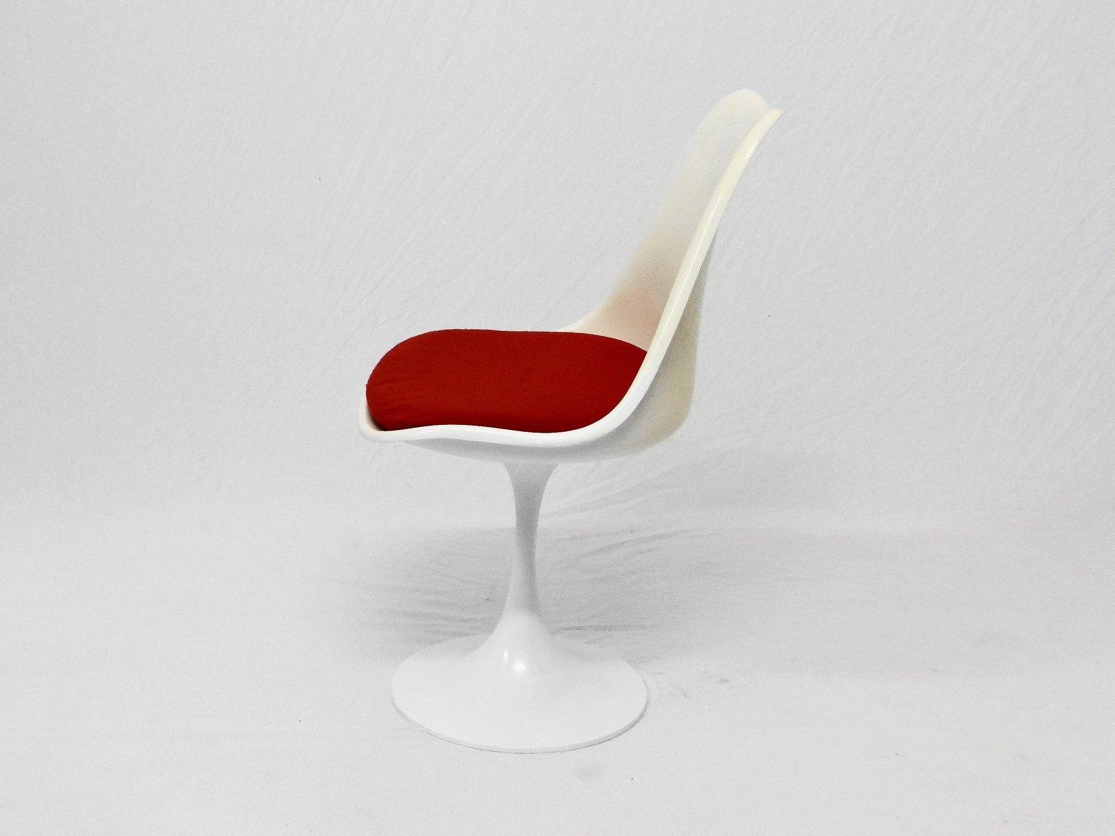 stuhl mit tulpenfu und tisch 1960er 2er set bei pamono. Black Bedroom Furniture Sets. Home Design Ideas