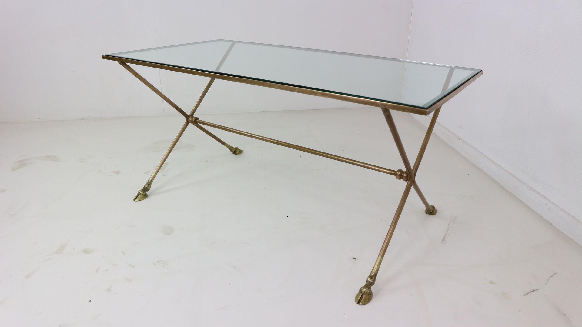 franz sischer glas metall couchtisch 1950er bei pamono. Black Bedroom Furniture Sets. Home Design Ideas